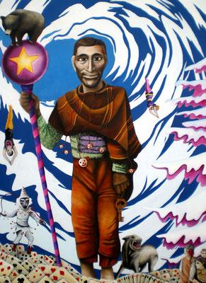 THE KEY  Acrylic on canvas 160 x 120 cm; 2010