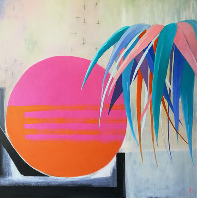 DREAMING GROUND III Acrylic, coal on canvas, 100 x 100 cm; 2018