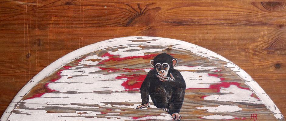 OMG Acrylic on wood Ø 15,5 x 53 cm; 2016