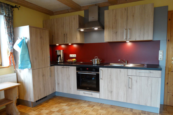 Ferienwohnung Hofblick - neue Küche mit modernen Elektrogeräten