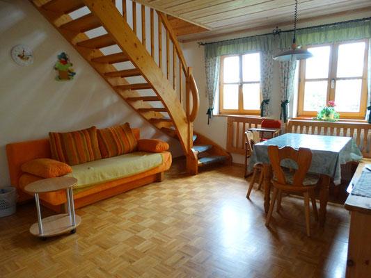 Ferienwohnung Gartenblick - Wohnraum