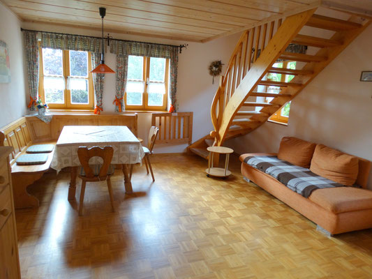 Ferienwohnung Hofblick - großer gemütlicher Wohnraum