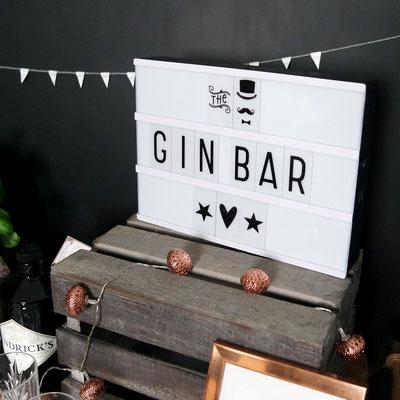 Gin Bar Lichtbox