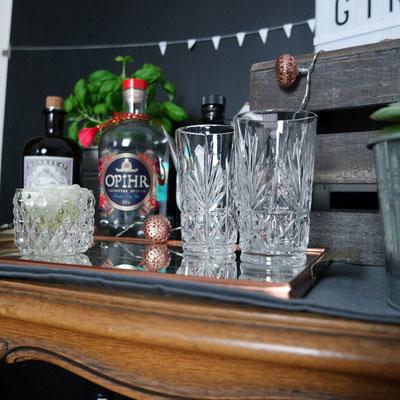 Kristallgläser Gin Bar