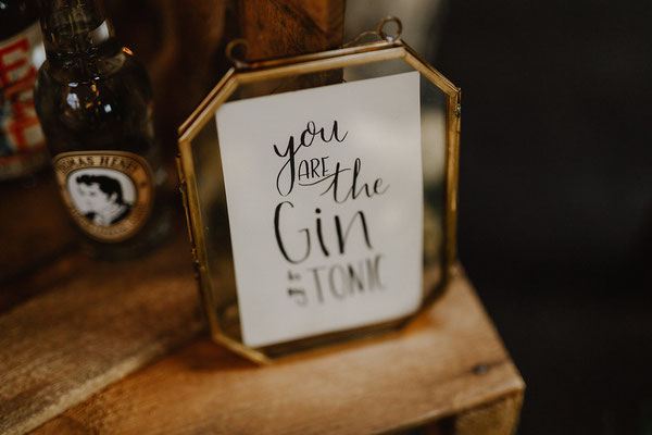 Lettering You are the Gin to my Tonic
