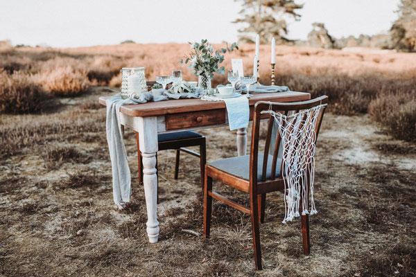Vintage Tisch Hochzeit