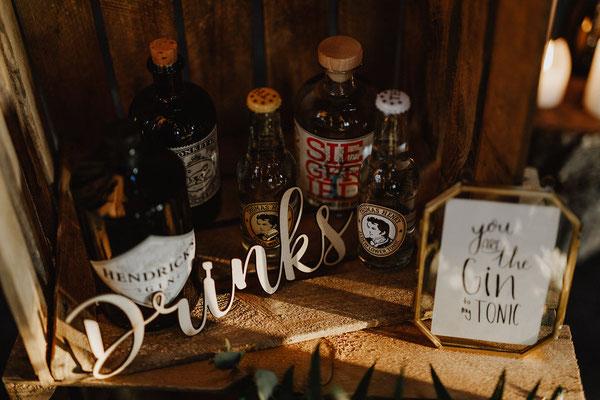 Gin Bar Auswahl