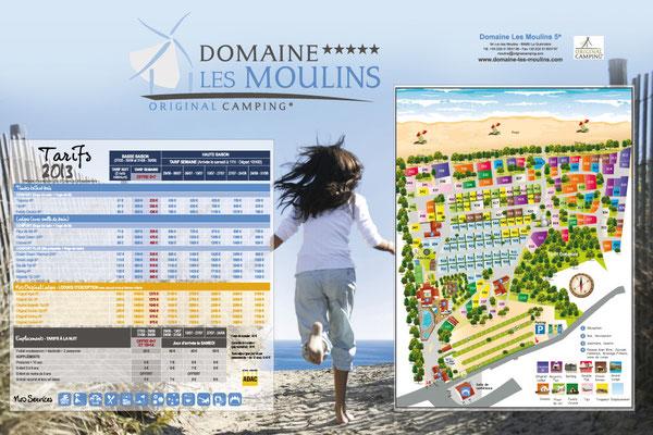 Panneau tarif Domaine des Moulins
