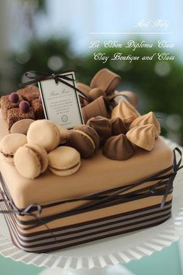 チョコスクエアケーキ