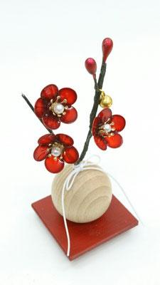 紅梅の飾り