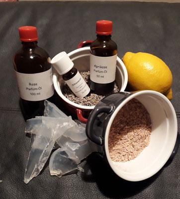 Zutaten Glyzerinseifen herstellen