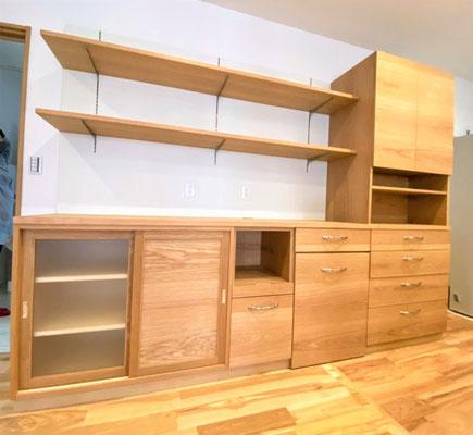 木の家具 キッチン収納