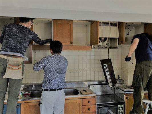 キッチン解体工事 リノベーション 住宅リフォーム