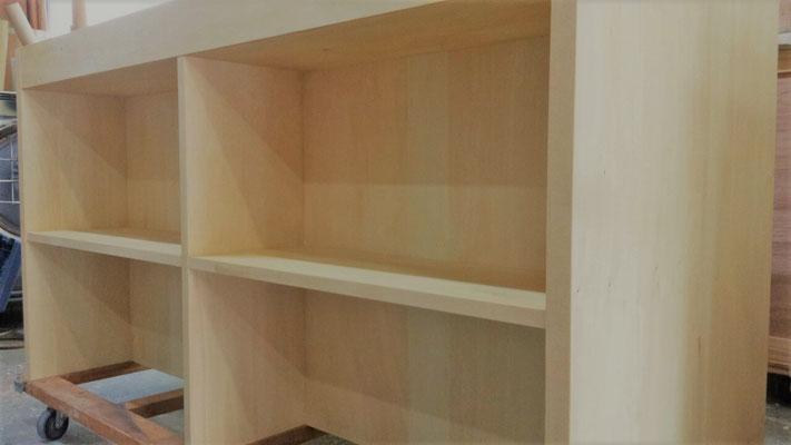 シナ 天然木 収納家具 キッチン