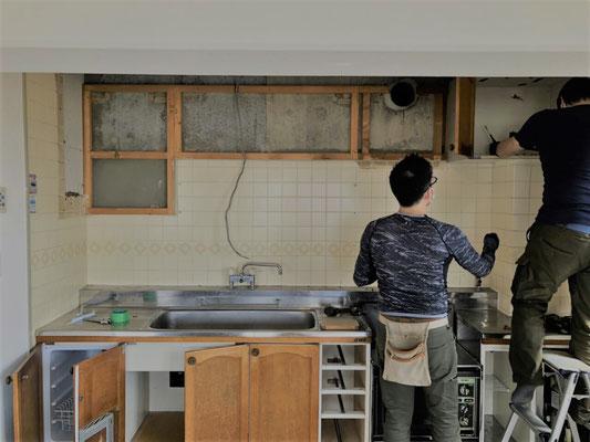 キッチン解体工事 リノベーション マンションリフォーム