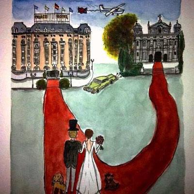 una boda en Santa Barbara y el Hotel Palace