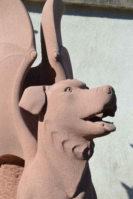 """""""Drachenhund"""", Sandstein"""