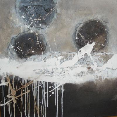 Bitumen - Sand - Beize 70 x 70 cm
