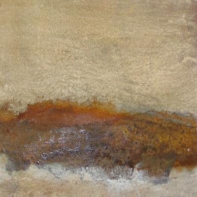 Sand - Gesteinsmehl und mit Feuer bearbeitet 50 x 50 cm