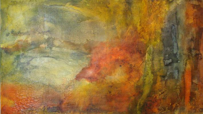 Tusche - Pigmente  - Wachs 120 x 70 cm