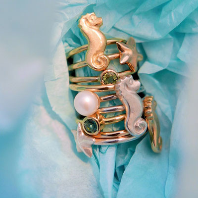 Ocean Ride Seepferdchen-Ohrhänger by Meerglanz