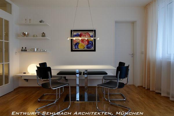 Design Esstisch Glanzverchromt Entwurf: Sehlbach Architekten München