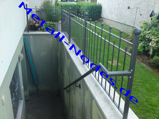 Treppenabgangsgeländer