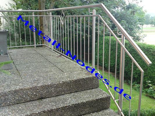 Treppenaufgangsgeländer Edelstahl