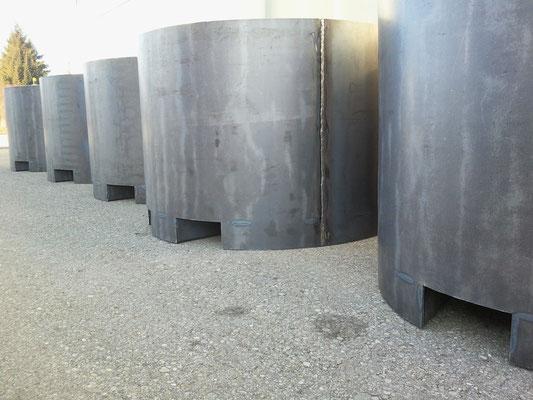 Pflanzkübel XXL aus 3mm Stahlblech gewalzt