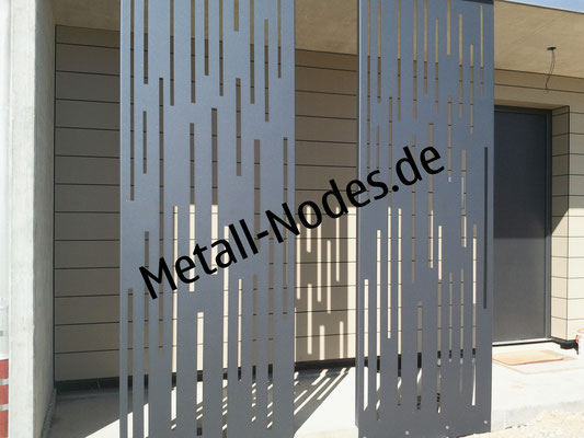 Design Blechvorhang Aluminium Pulverbeschichtet DB703
