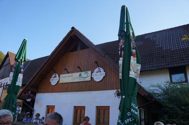 Bei schönen Wetter ist der kleine Biergarten eine perfekte Einkehr für Wanderer am Wochenende. (©odenwaldlust.de)