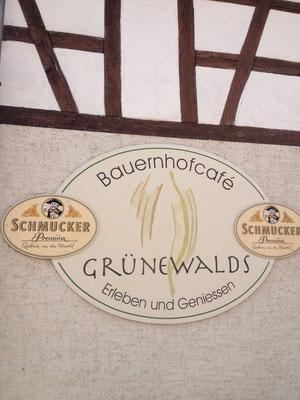 Das Bauernhofcafé Grünewalds liegt in der Ortsmitte von Ober-Klingen.