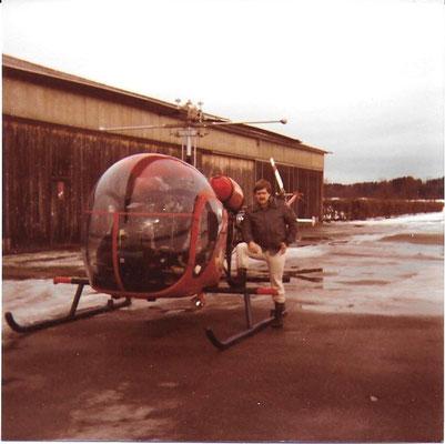 Flugplatz Sitterdorf 1982 Sitterdorf (Bell 47)