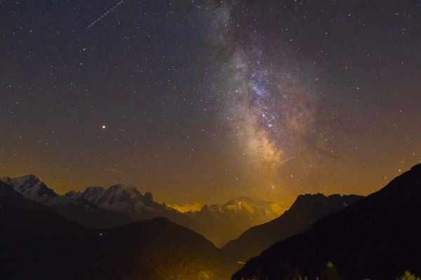 Milchstrasse über dem Mont Blanc
