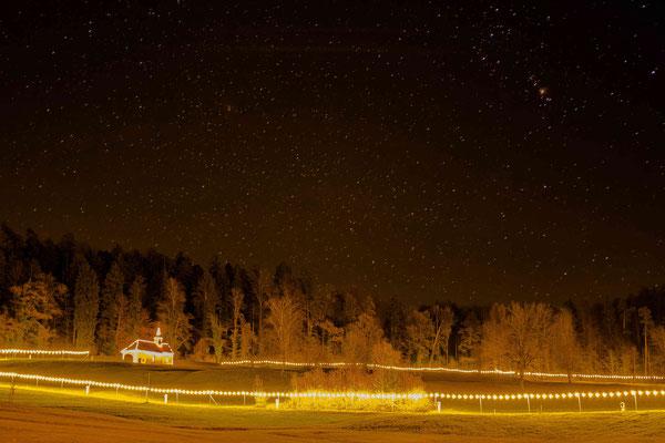 Lichterweg Baar unterm Sternenhimmel