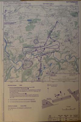 Anflugkarte von Sitterdorf 1982