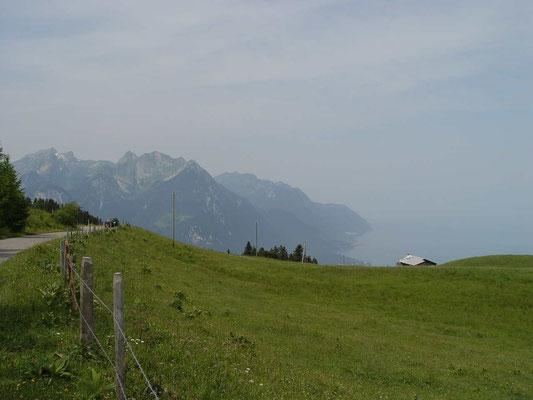 Blick von Col des Mosses auf den Genfersee