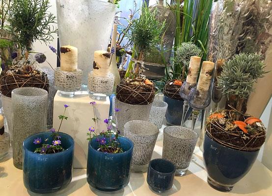 DutZ Vasen für Pflanzen_dunkelblau