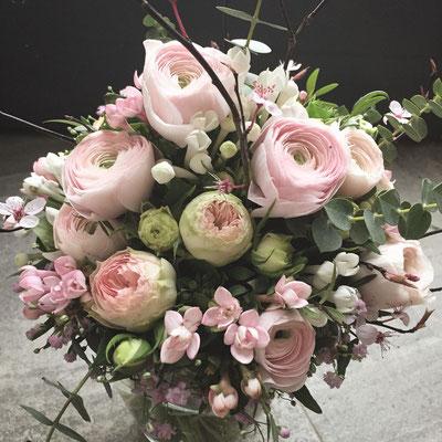 Hochzeitsfloristik - Brautstrauß rosa