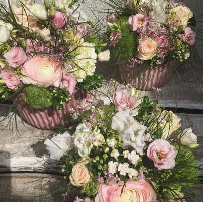 Hochzeitsfloristik - Tischgestecke