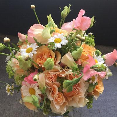 Hochzeitsfloristik - Brautstrauß pastell
