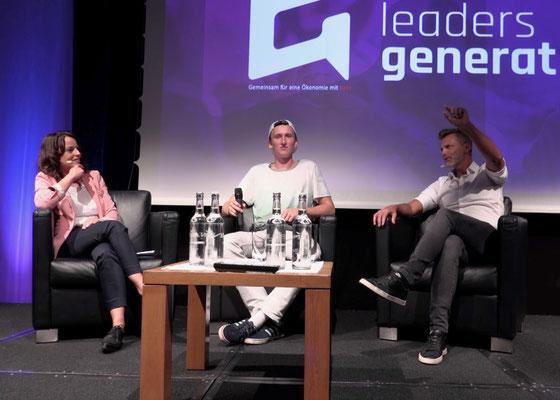 Mona Vetsch, Andri Ragettli und Alain Sutter reden am Leaders Generation Day in Bad Ragaz offen über ihre Erfahrungen und Ängste