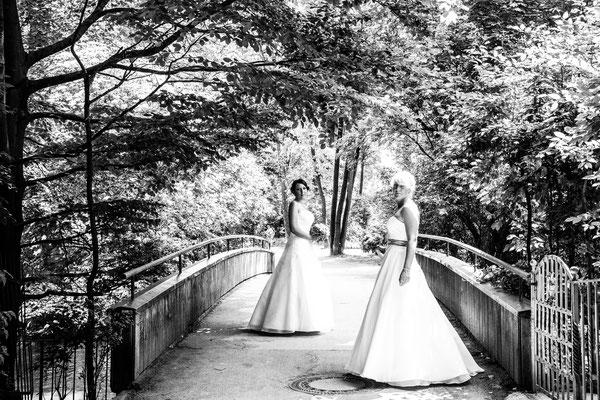 Brautpaar im Englischen Garten