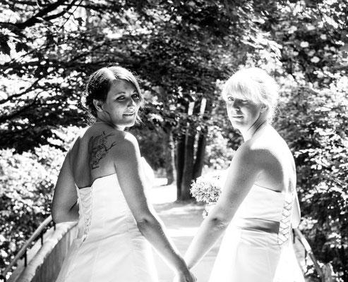 Brautpaar, München Englischer Garten