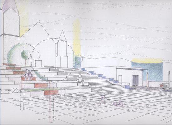 Wettbewerb, Gestaltung Kirchenplatz