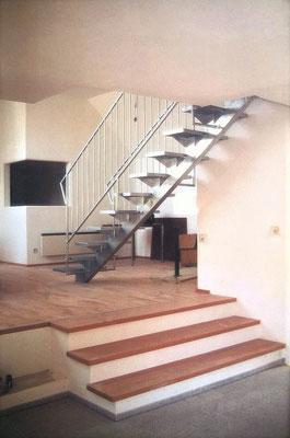 Innenraum Büros, Detail Treppe, Kategorie: Zu-und Ausbau DG