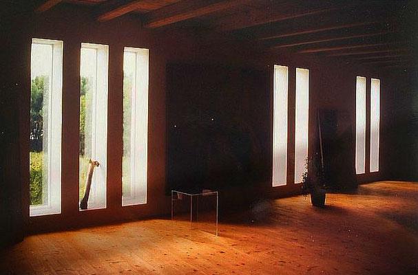 Innenansicht Maler Atelier - Fenster Schlitze, Kategorie: Umbau