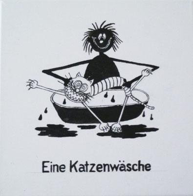 """Serie Wortspiele: """" Katzenwäsche"""""""
