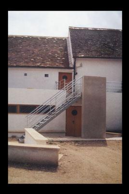 Ansicht Aufgang Büros Kulturzentrum, Kategorie: Zu-und Ausbau DG