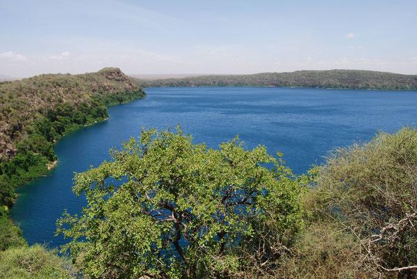 Blick auf den Lake Chala